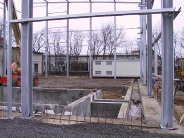 Stahlkonstruktion Maschinenhalle